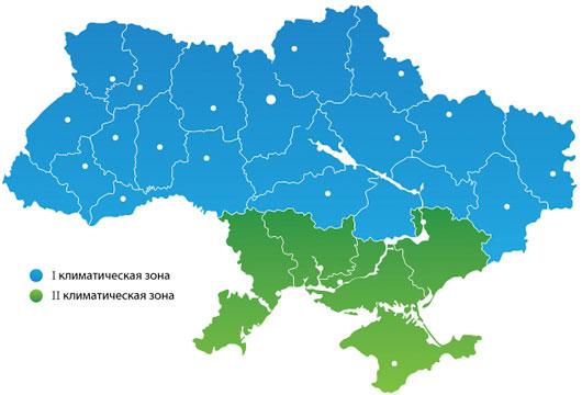 Климатические зоны Украины
